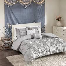 quinn 4 piece grey twin twin xl solid comforter set
