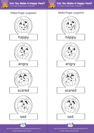 Can You Make A Happy Face Worksheet Make Finger Puppets