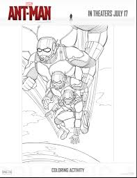 Small Picture Ant Man is Now in Theaters free coloring sheets family activity