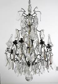 french louis xv crystal and bronze antique chandelier vintage iron basket empire lighting chandeliers uk