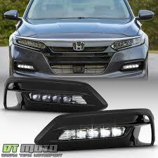 2018 Accord Fog Light Kit Details About For 2018 2019 Honda Accord Sedan Led Bumper Fog Lights Lamps Bezel W Switch Kit