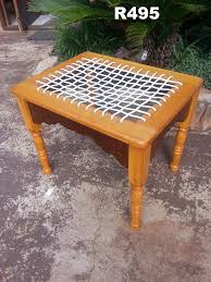 yellowwood and imbuia dressing table chair