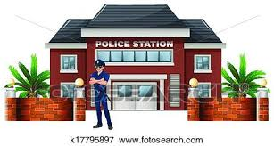 police station building clipart. Wonderful Police Clip Art  A Policeman Standing In Front Of The Police Station Fotosearch  Search For Police Station Building Clipart O
