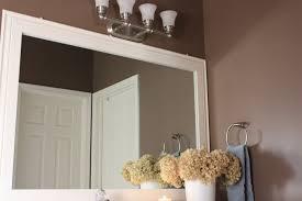 Trim Around Bathroom Mirror For Decor How To Frame A Bathroom - Trim around bathroom mirror