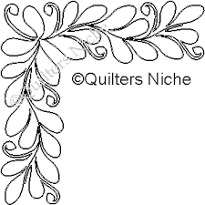 Quilting Stencils to cut with the Silhouette Cameo – Quilters ... & QS-4 Narrow Feathers corner-borders combined Adamdwight.com