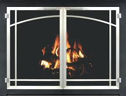 fireplace door seal fireplace glass door bar iron inset in textured black with plated brushed chrome fireplace door