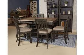 diningroomsoutlet reviews. tyler creek 7pc rectangular dining counter set in black/gray diningroomsoutlet reviews o