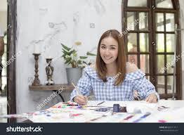 Fashion Designer Part Time Job Young Asian Designer Woman Warking Studio Stock Photo Edit