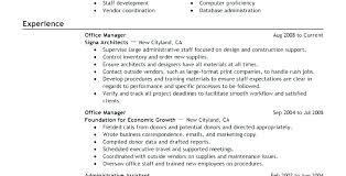 Office Manager Resume Objective Pohlazeniduse