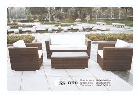 Outdoor wicker sofa zebano ss 090