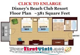 floor plan disney s beach club resort from yourfirstvisit net