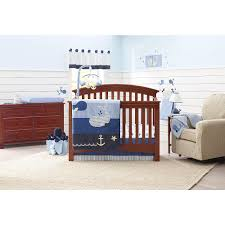 blue nautical nursery bedding