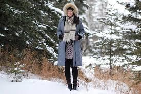 woman wearing canada goose down jacket