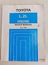 Toyota Hilux Repair Manual for L, 2L Engine, 1983, 36231E, Hiace Hilux