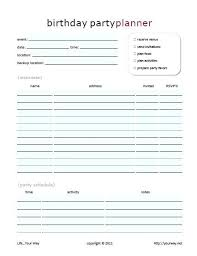 Party Planning Template Free Checklist Party Event Planning Template Birthday Checklist