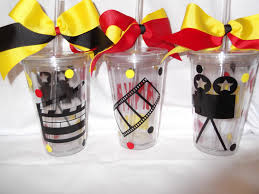 Hollywood Theme Decorations Hollywood Movie Themed Tumbler 16 Ounce Cups By Theposhdiva 900