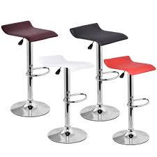 modern leather bar stools. 1 Pc Modern Leather Bar Stool Adjustable Swivel Diner Stools C