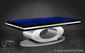 custom pool tables. OVAL CUSTOM POOL TABLE BLACK Custom Pool Tables