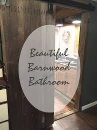 Barnwood Bathroom Spain Hill Farm Beautiful Diy Barnwood Bathroom