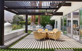 modern patio covers Patio Midcentury with arthur elrod baby grand