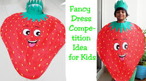 How To Make Strawberry Fancy Dress For Kids Fruit Fancy Dress Competition Idea Fancy Dress Ideas