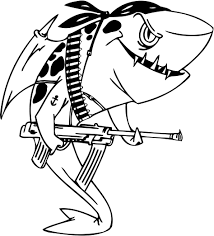 great white shark clipart coloring page 15
