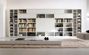 Bookcase Design Ideas Astonishing Furniture Wonderful White Lacquered Contemporary Big Bookcase Design Cool Home Interior Book Storage Cool Bookcases