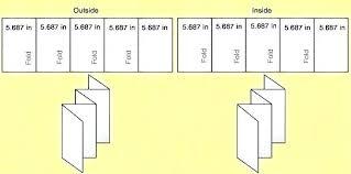 Word Brochure Template Tri Fold Folded Brochure Template Roll Fold Brochure Template Tri