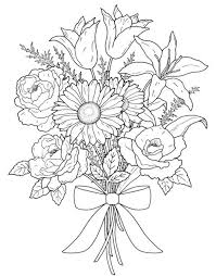 14 Kids Coloring Pages Adult Flowers And Flower Coloring Pages