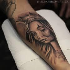 тату татуировка чикано девушка