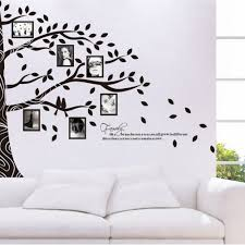 picture photo frame wall stickers half tree wall sticker family