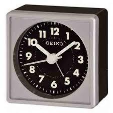 detailed image of seiko qhe083slh travel alarm clock