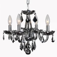 clarion collection 4 light chrome finish and chrome crystal chandelier 16 d x 12