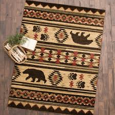a black forest décor exclusive add lodge style to your cabin floors with kilim diamonds and bears on these plush polyproplene rugs with durable polyester