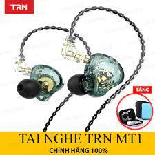 Tai nghe nhét tai TRN MT1 Dynamic HIFI chống ồn thể thao có micro đàm thoại  - Tai nghe có dây nhét tai