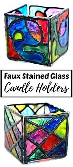 stained glass stained glass candle holder patterns best of tin can lantern faux holders for