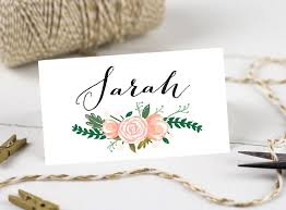 Wedding Name Printable Wedding Place Cards Personalised Name Cards