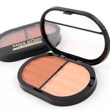 miss rose natural double colors face mineral blush powder bronzers contour blusher palette 4 colors mother s