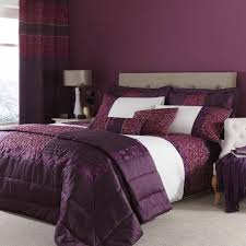 luxurious plum embroided quilted damask duvet quilt cover set curtains