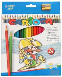 <b>Набор цветных карандашей Universal</b> Carioca 24 шт 17.5 см ...