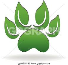 green dog paw clipart. Perfect Dog Dog Paw Logo Green Leafs Ecology Intended Green Paw Clipart