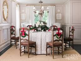 bountiful and beautiful this skirted round table beckons guests with a mix of cottage charm and holiday happiness