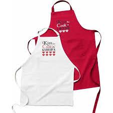kitchen apron. personalized kiss the cook kitchen apron f