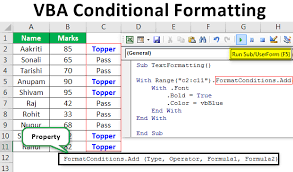 Vba Conditional Formatting Apply Conditional Format Using