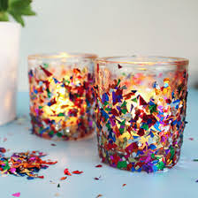 ... Confetti Votive Candle Holder DIY