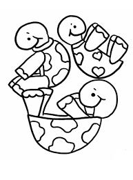 Kleurplaat Verschillende Schildpadden Zijn Aan Het Rollen