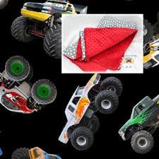 monster trucks cars bedding blanket or