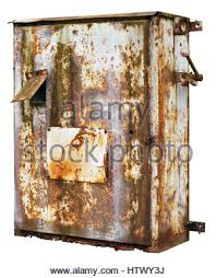 old rusty electrical fuse box uk stock photo royalty image old rusty retro metal box for electrical fuses and switches isolated stock photo