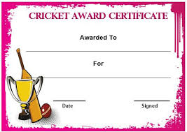22 Well-Designed Cricket Certificate Templates : Free Word Templates ...