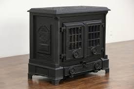 coalbrookdale signed darby 1980 english iron wood stove glass doors